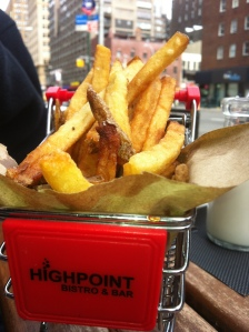 close up of fries in cart