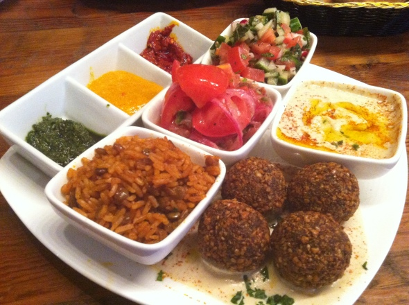 Silvana gluten free falafel plate