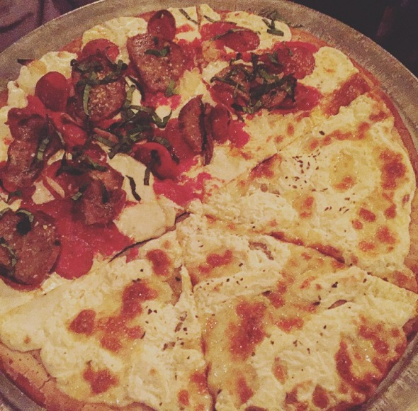 Rubirosa Gluten Free Pizza - Half Supreme and Half Bianca