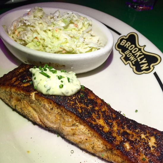 Brooklyn Bowl Gluten Free Blackened Salmon